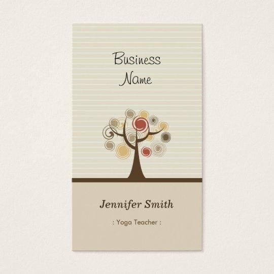 Yoga Teacher - Stylish Natural Theme Business Card