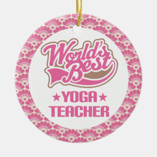 Yoga Teacher (Worlds Best) Cute Ornament