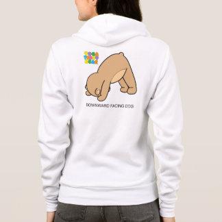 Yoga Teddy Bear Downward Dog Hoodie