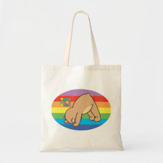 Yoga Teddy Bear Rainbow Book Bag