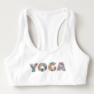 Yoga Text Sports Bra