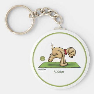 Yoga - The Crane Pose Basic Round Button Key Ring
