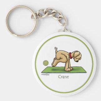 Yoga - The Crane Pose Basic Round Button Key Ring