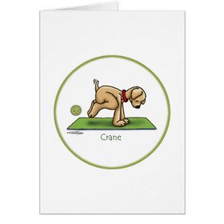 Yoga - The Crane Pose Card