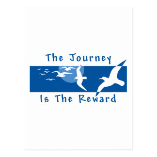 Yoga - The Journey Is The Reward Postcard