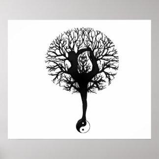 Yoga Tree Balance Poster