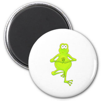 Yoga Tree Frog Magnet