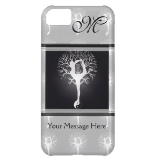 Yoga Tree in Black and White iPhone 5C Case