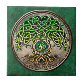 Yoga Tree of Life Small Square Tile