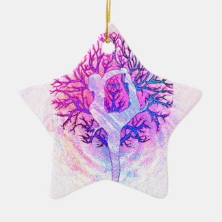 Yoga Tree Pastel Rainbow Christmas Ornament