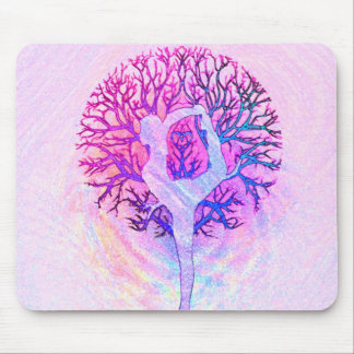 Yoga Tree Pastel Rainbow Mouse Mat
