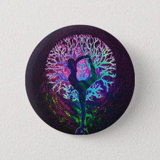 Yoga Tree Peace Rainbow 6 Cm Round Badge