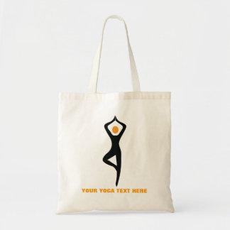 Yoga tree pose black, orange custom