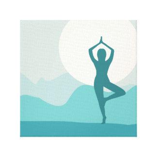 Yoga Wrapped Canvas Prints Zazzle Co Uk