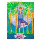 Yoga Tree Pose Woman Happy Birthday Card