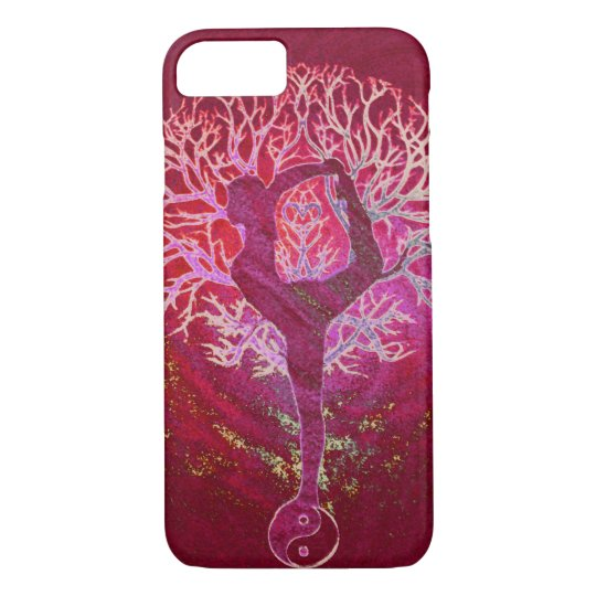 Yoga Tree -  Red, Pink, Gold iPhone 7 Case