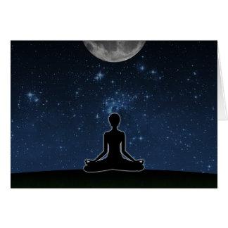 Yoga Under The Moon Card
