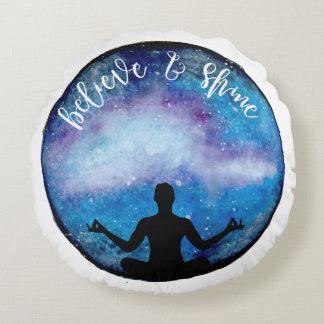 yoga universe round cushion