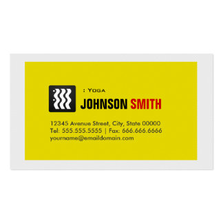 Yoga - Urban Yellow White Business Card Template