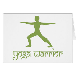 Yoga Warrior Pose Card