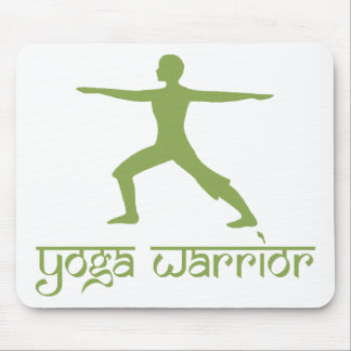 Yoga Warrior Pose Mouse Pad