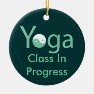 Yoga with Yin & Yang door hanger Christmas Ornament