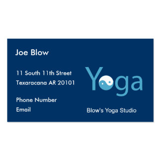 Yoga with Yin Yang in blue Pack Of Standard Business Cards