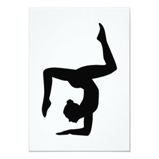 Yoga woman girl card