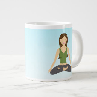 Yoga Woman In Lotus Pose Jumbo Mug
