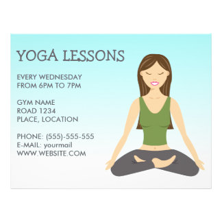 Yoga Woman In Lotus Pose Yoga Lessons 21.5 Cm X 28 Cm Flyer