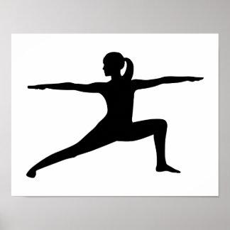 Yoga woman print