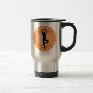 yoga woman travel mug