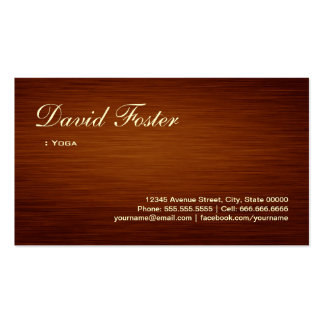 Yoga - Wood Grain Look Pack Of Standard Business Cards