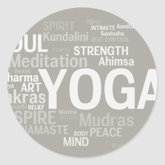 YOGA Words Sticker