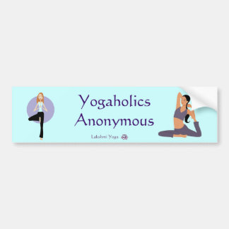 """Yogaholics Anonymous"" sticker Bumper Sticker"