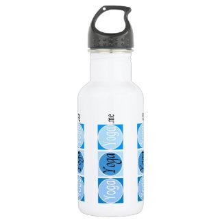 YogaYogaYoga.me Blue Logo Water Bottle