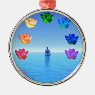 Yogi chakra by healing love Silver-Colored round decoration