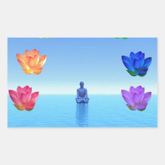Yogi chakra by healing love rectangular sticker