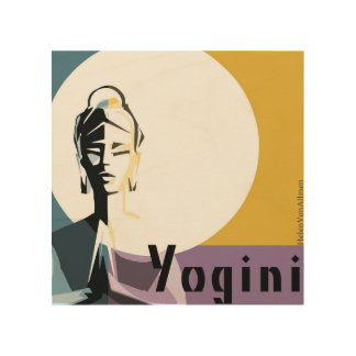Yogi illuminate woman wood wall art