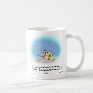 Yogi mouse/firefly basic white mug