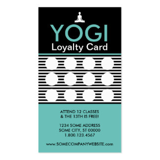 yogi striate stamp card pack of standard business cards
