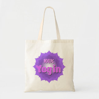 Yogin logo eco bag with violet mandala