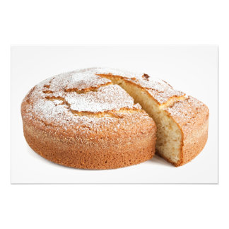 yogurt cake sliced photo