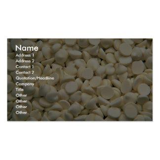 Yogurt chips business card template