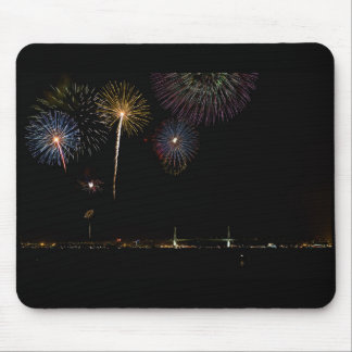 Yokohama Bridge with Fireworks Mouse Pad