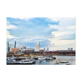 Yokohama Stretched Canvas Print