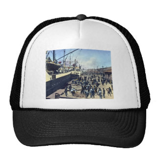 Yokohama Harbor Japan Vintage Shipping 横浜港 Trucker Hats
