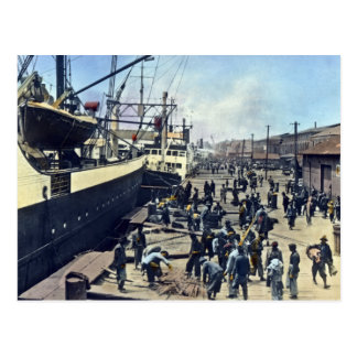 Yokohama Harbor Japan Vintage Shipping 横浜港 Postcard