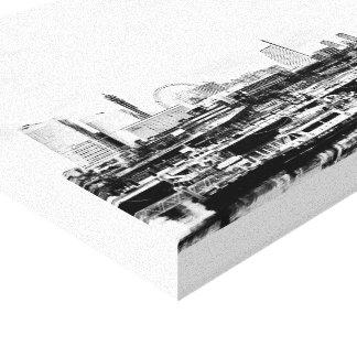Yokohama in Black and White Canvas Print