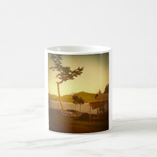 Yokohama Japan Park Vintage Mountains Coffee Mugs